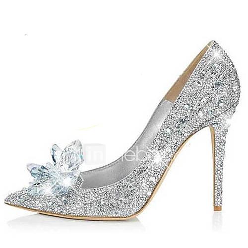 Zapatos de boda - Tacones - Tacones / Puntiagudos - Boda / Vestido / Fiesta y Noche - Plata - Mujer Descuento en Lightinthebox