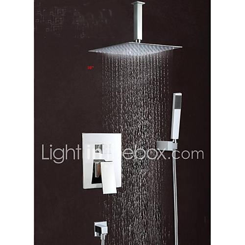 Modern muurbevestigd waterval regendouche with messing ventiel single handle drie gaten for - Moderne badkraan ...