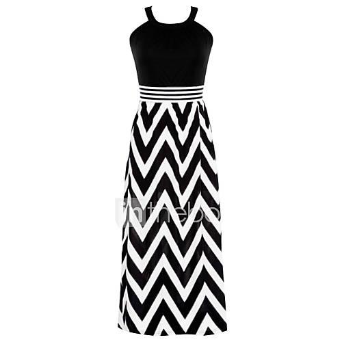halter-spandex-polyester-katoenmixen-maxi-vrouwen-jurk-mouwloos