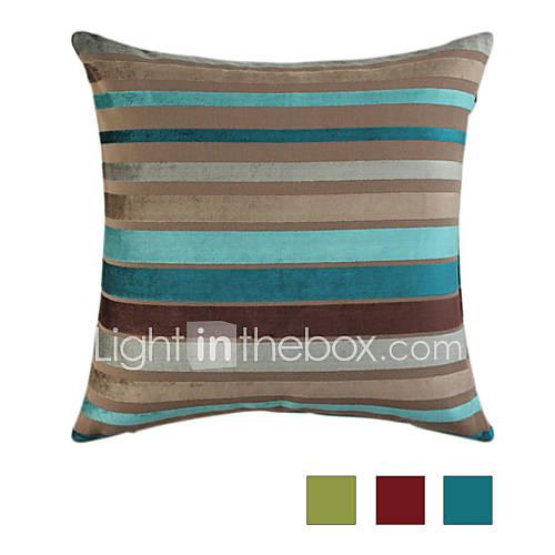 Traditioneel klassiek modern 18 vierkant gestreept polyester katoen chenille kussensloop - Klassiek bed ...