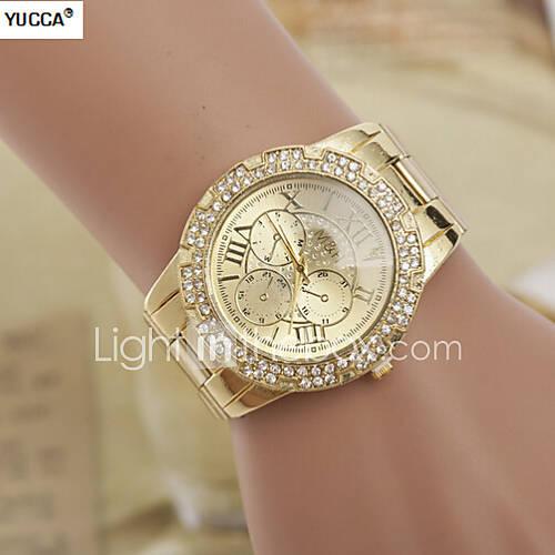 Mujer Reloj de Moda Aleación Banda Plata / Dorado Marca- Descuento en Lightinthebox