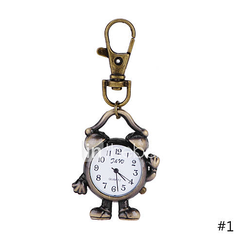 Classic Lovely fashion Robot Alarm Clock Pendant Brass ...