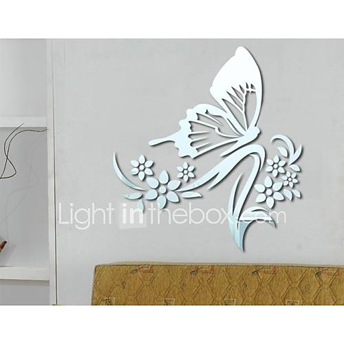 En forme de papillon miroir bricolage stickers muraux for Stickers miroir en rouleau