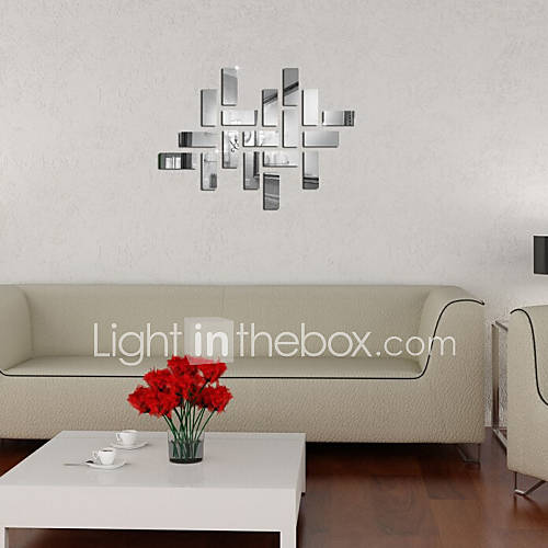 miroir autocollants muraux stickers muraux g om trie. Black Bedroom Furniture Sets. Home Design Ideas