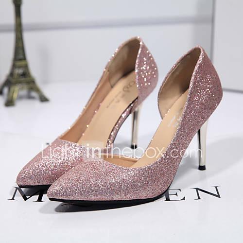 Zapatos de mujer ante sint tico tac n stiletto tacones for Zapatos para boda en jardin