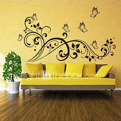 3d mariposa pegatinas de pared calcoman as estilo y flor for Pegatinas 3d pared