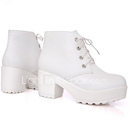 s shoes faux leather chunky heel combat boots boots