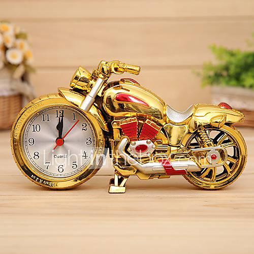 r tro forme de moto r veil horloge quartz bureau en plastique couleur al atoire de 3884576. Black Bedroom Furniture Sets. Home Design Ideas