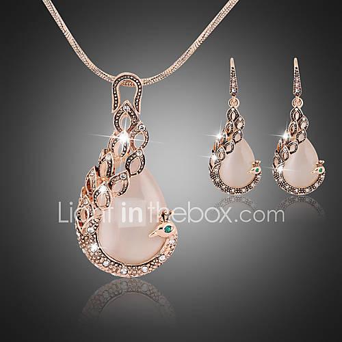Collar/Pendiente ( Aleación/Zirconia Cúbica/Piedra Preciosa y Cristal )- Vintage/Fiesta/Trabajo/Casual para Mujer Lightinthebox