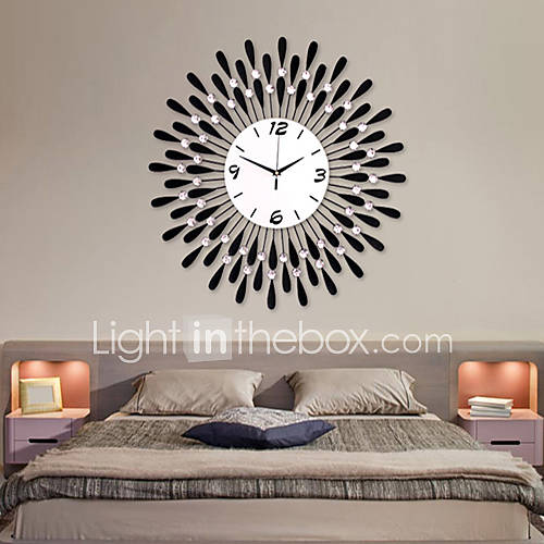 24 ''reloj de pared de hierro patrón-gota de agua moderna Descuento en Lightinthebox