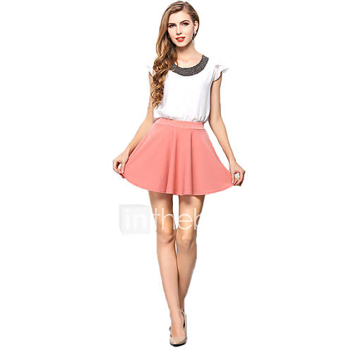 Womenu0026#39;s Casual Chiffon Mini Skirts Tulle Skirt Pleated Juniors Skater Skirts 3859239 2017 u2013 $8.99