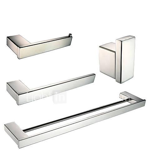Set de accesorios de ba o barra para toalla anillo for Set bano toallero