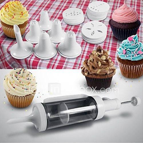 Cake Decorating Icing Dispenser : Cake Icing Piping Syringe Kit Dessert Frosting Dispenser ...
