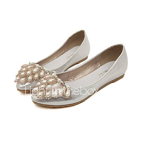 s shoes faux leather flat heel closed toe flats