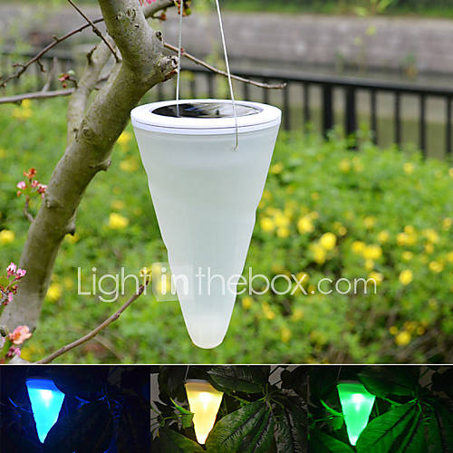 Outdoor Hanging Tree Lights: Solar Outdoor Garden Hanging Tree Cornet Cone LED Lights