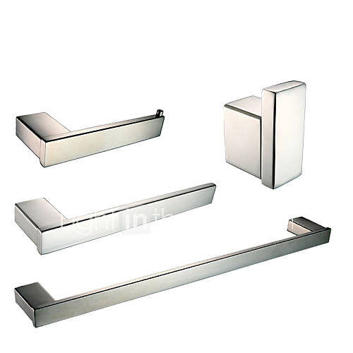 Polish stainless steel bathroom accessories set with towel - Bathroom accessories paper towel holder ...