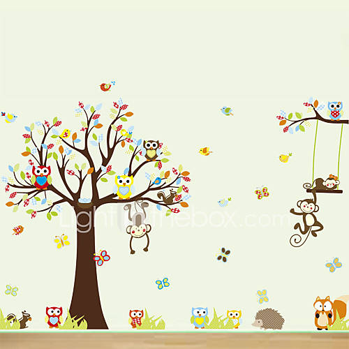 Animais / Desenho Animado Wall Stickers Autocolantes de Aviões para Parede Autocolantes de Parede Decorativos,PVC Material Reposicionável
