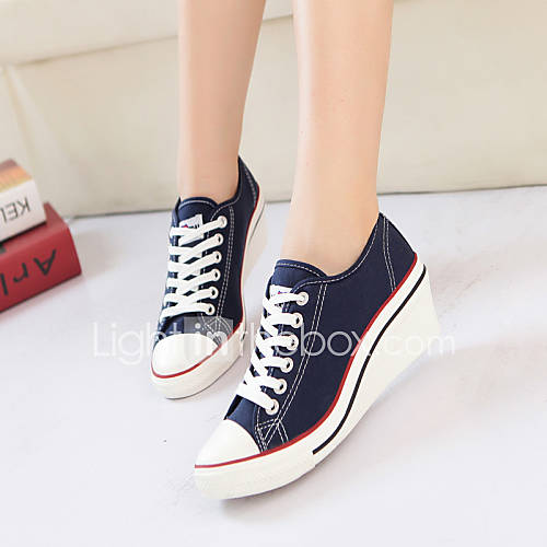 s shoes canvas wedge heel creepers comfort sneakers