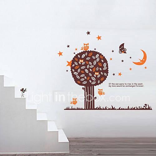 huis van kinderkamer / slaapkamer muur sticker verwijderbare diertjes ...