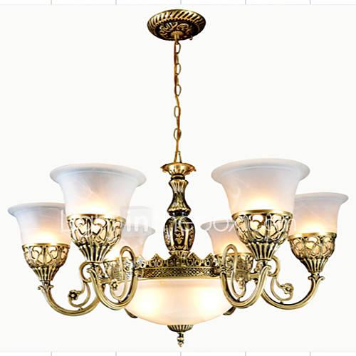 lampadari in bronzo : lampadari in bronzo nove luci moire-vetro european retr? 220v ...