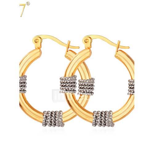 Gold Italy Platinum: U7® Women's 18K Real Gold/Platinum Plated Women Jewelry