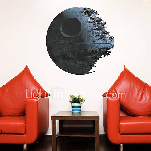 Cartoon fantasy 3d wall stickers plane wall stickers for Death star wall mural