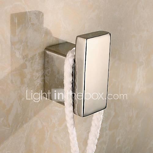 Crochet peignoir gadget de salle de bain acier for Crochet fixation miroir