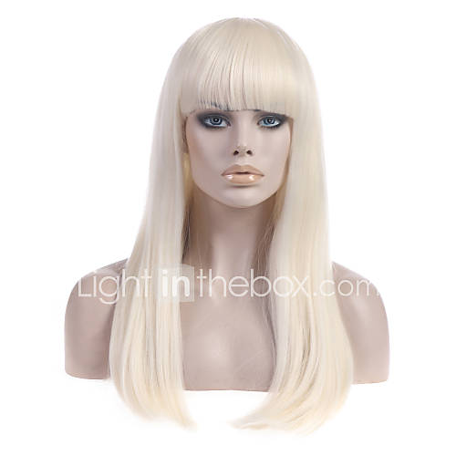 Women Synthetic Wig Capless Long Straight With Bangs Halloween Wig Carnival Wig Costume Wig