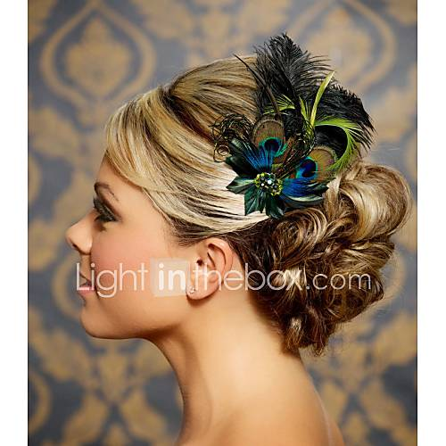 Hand Made Wedding Feather Hair Clip Fascinator Headpieces Fascinators 045 4062458 2016 U2013 $25.75
