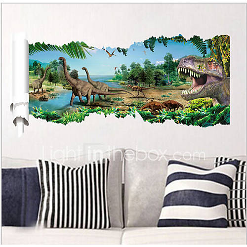 2015 novos zooyoo 1458 parque jurássico dinossauros do filme adesivos de parede