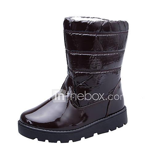 s shoes patent leather platform snow boots toe
