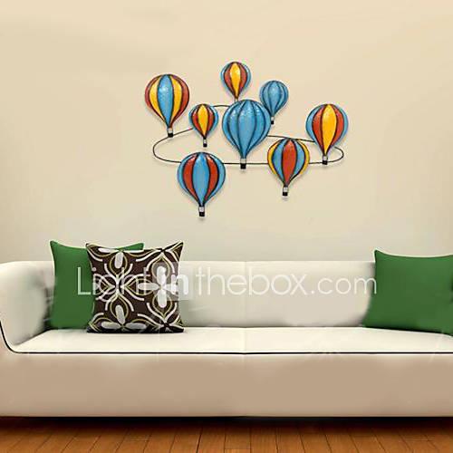 E Home Resin Wall Art Wall Decor Colored Balloons Wall