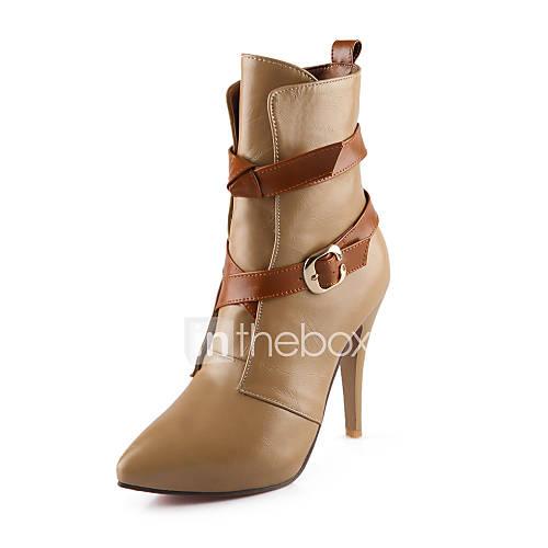 Zapatos de mujer tac n stiletto botines botas de - Botas de trabajo ...
