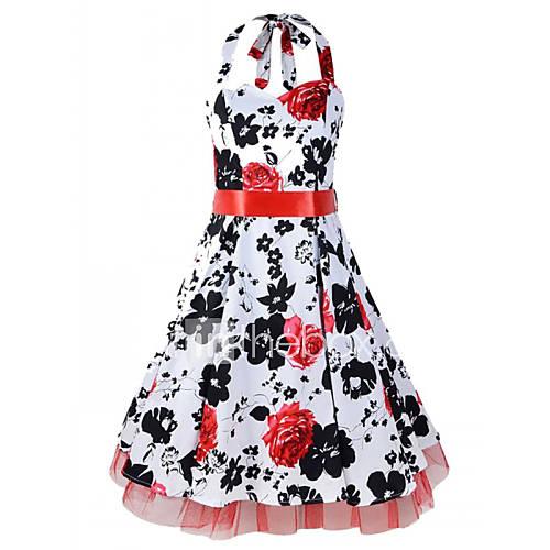 halter-katoen-polyester-netstof-boven-de-knie-vrouwen-jurk-mouwloos