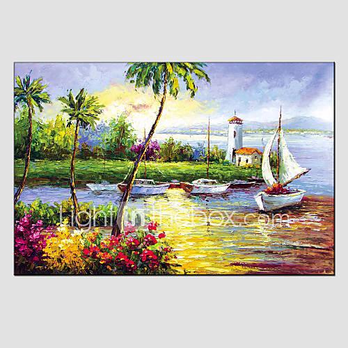 Peinture l 39 huile de paysage moderne mat riel de toile for Materiel peinture a l huile