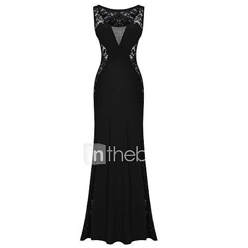 dames-uitgaan-sexy-vintage-schede-jurk-effen-diepe-v-hals-maxi-mouwloos-overige-zomer-medium-taille-micro-elastisch-ondoorzichtig
