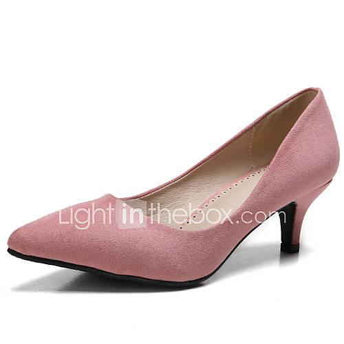 Suede kitten heel heels pointed toe closed toe heels dress black
