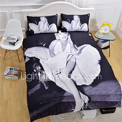 marilyn monroe duvet cover set white and black bedding set twin full