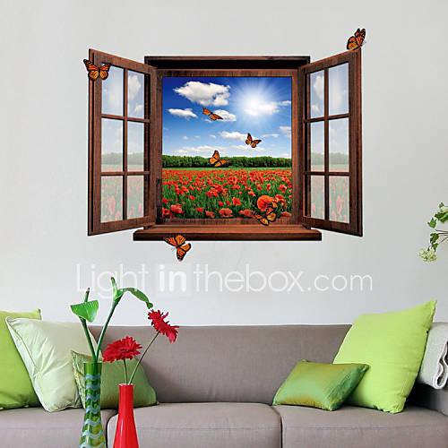 Adesivi 3d finestra scenario pvc decalcomanie adesivi for Adesivi murali 3d