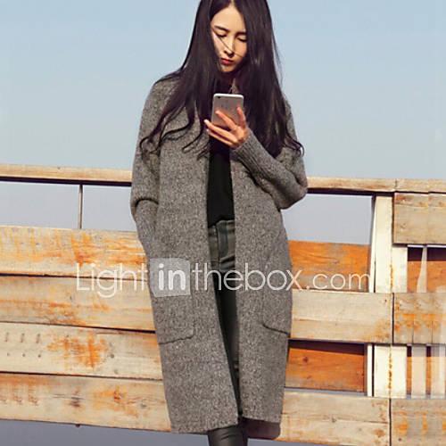 Soundobahouse — Продажа длинные вязаные пальто 2bbf76ed81f8d
