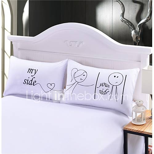 His And Her Wedding Anniversary Gifts : Her and His Side Pillow Case Christmas Romantic Anniversary Wedding ...