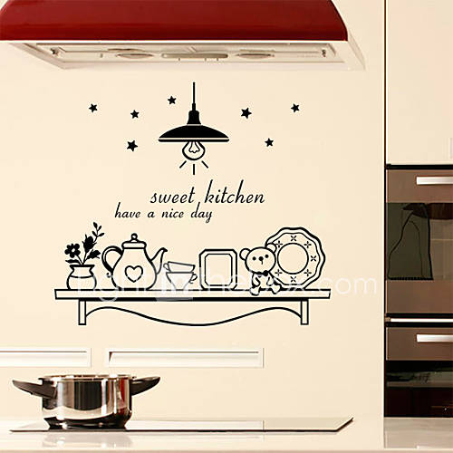 Wall stickers wall decals style sweet kitchen english - Posters y vinilos ...