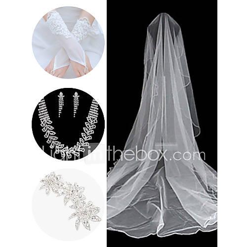 acessorios-do-casamento-set-veu-luvas-cocar-colar-brincos