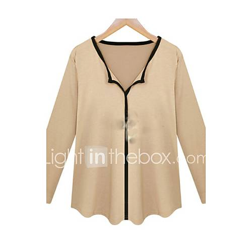 Women 39 s patchwork white black yellow t shirt for Womens yellow long sleeve shirt