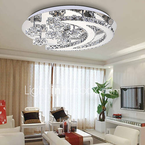 New crystal bedroom modern minimalist living room ceiling for Living room overhead lighting