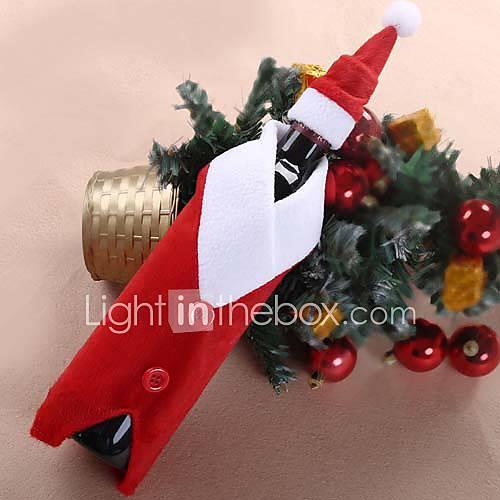 Cubierta de la botella de vino de navidad del juego de - Decoracion de mesa para navidad ...