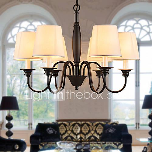 Hot Sale Chandeliers 6 Lights American Country Droplight Living Room Bedroom