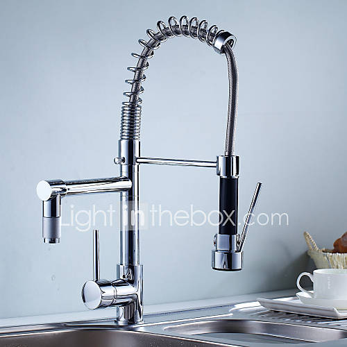 Kitchen Faucet Contemporary Pre Rinse Pullout Spray