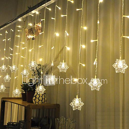 navidad bares ktv cortina brillo boda luces cascada decoración Lámparas cadena impermeable 3m luz Lightinthebox