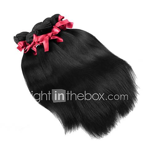Malásia virgens tramas do cabelo sedoso reta tecelagem cabelo humano 1pcs 100g / pcs virgens bundles tecer cabelo não transformados